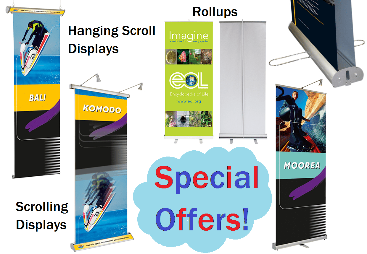 rollup and scrolling displays offers